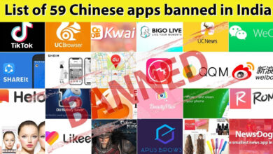 Photo of List Of 59 Chinese Apps Banned In India By Indian Government