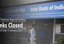Photo of Banks Closed For Upto 14 Days In January 2021
